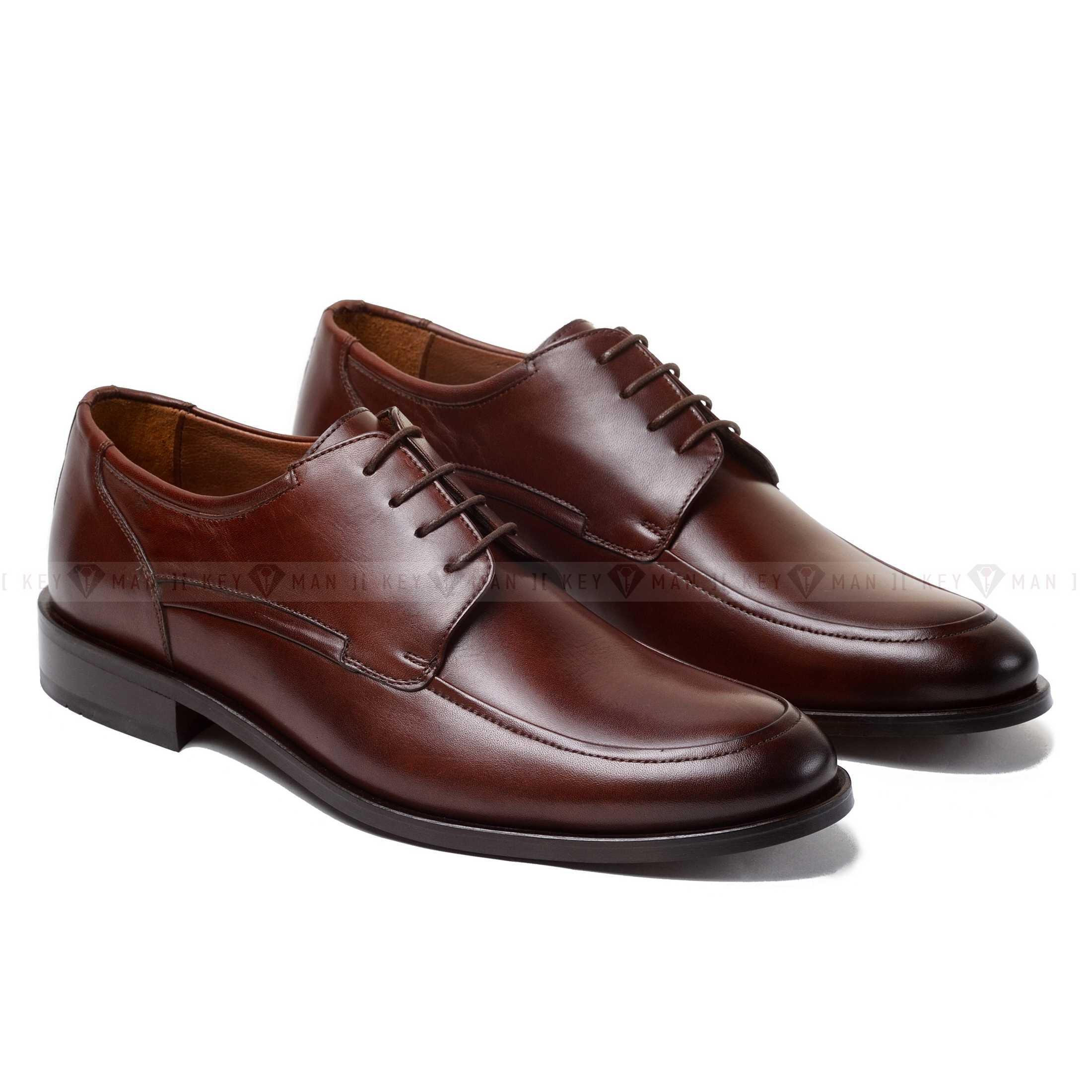 Туфли мужские дерби коричневые (Derby Moc Toe)