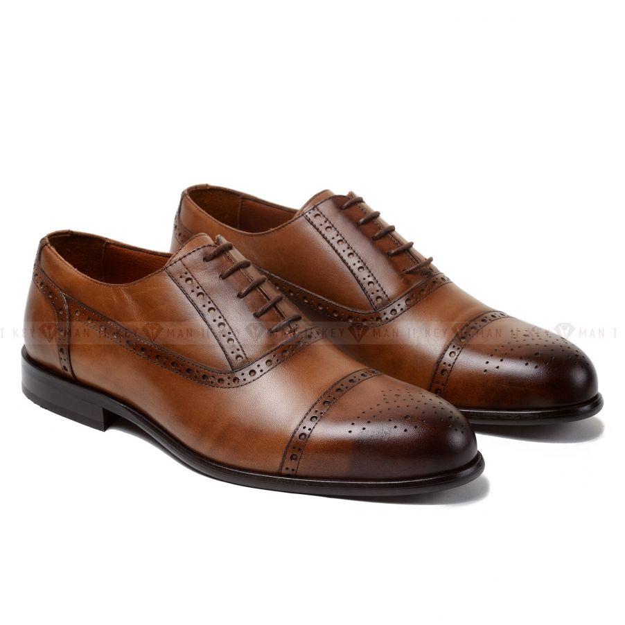 Туфли мужские оксфорды броги светло-рыжие