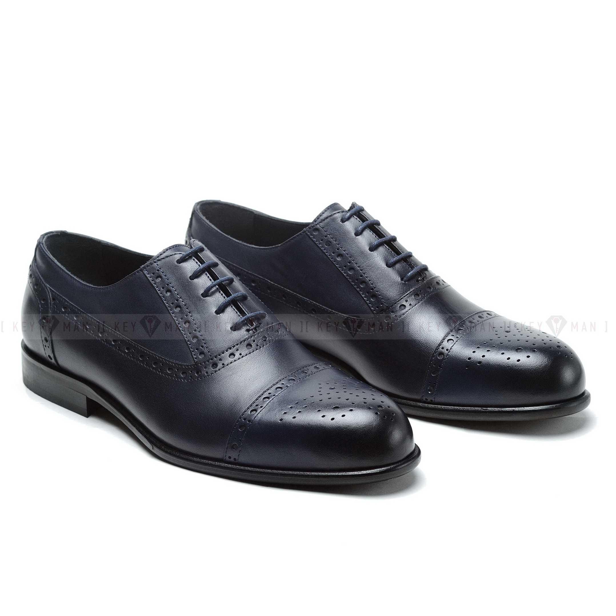 Туфли мужские оксфорды броги синие NEW