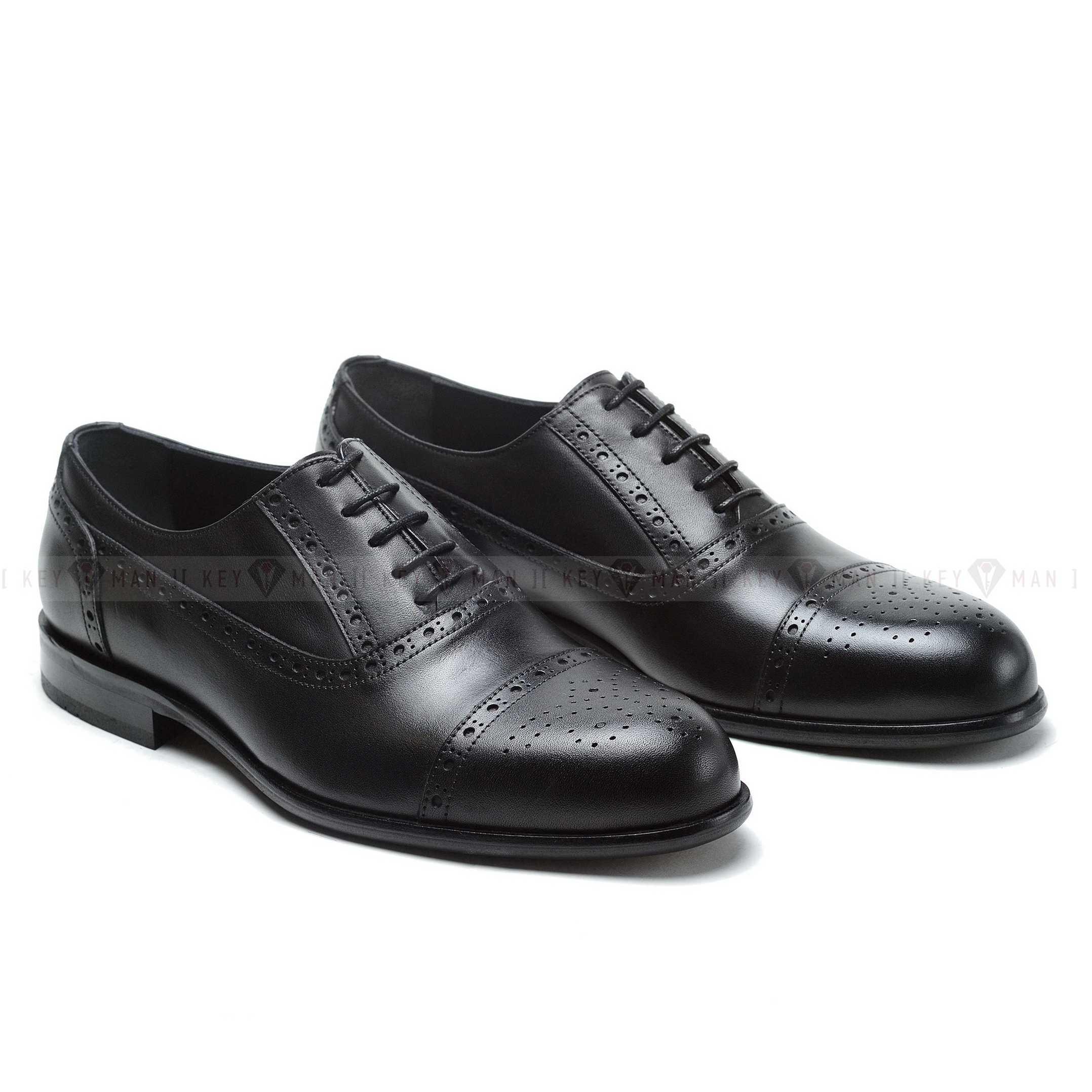 Туфли мужские оксфорды броги черные