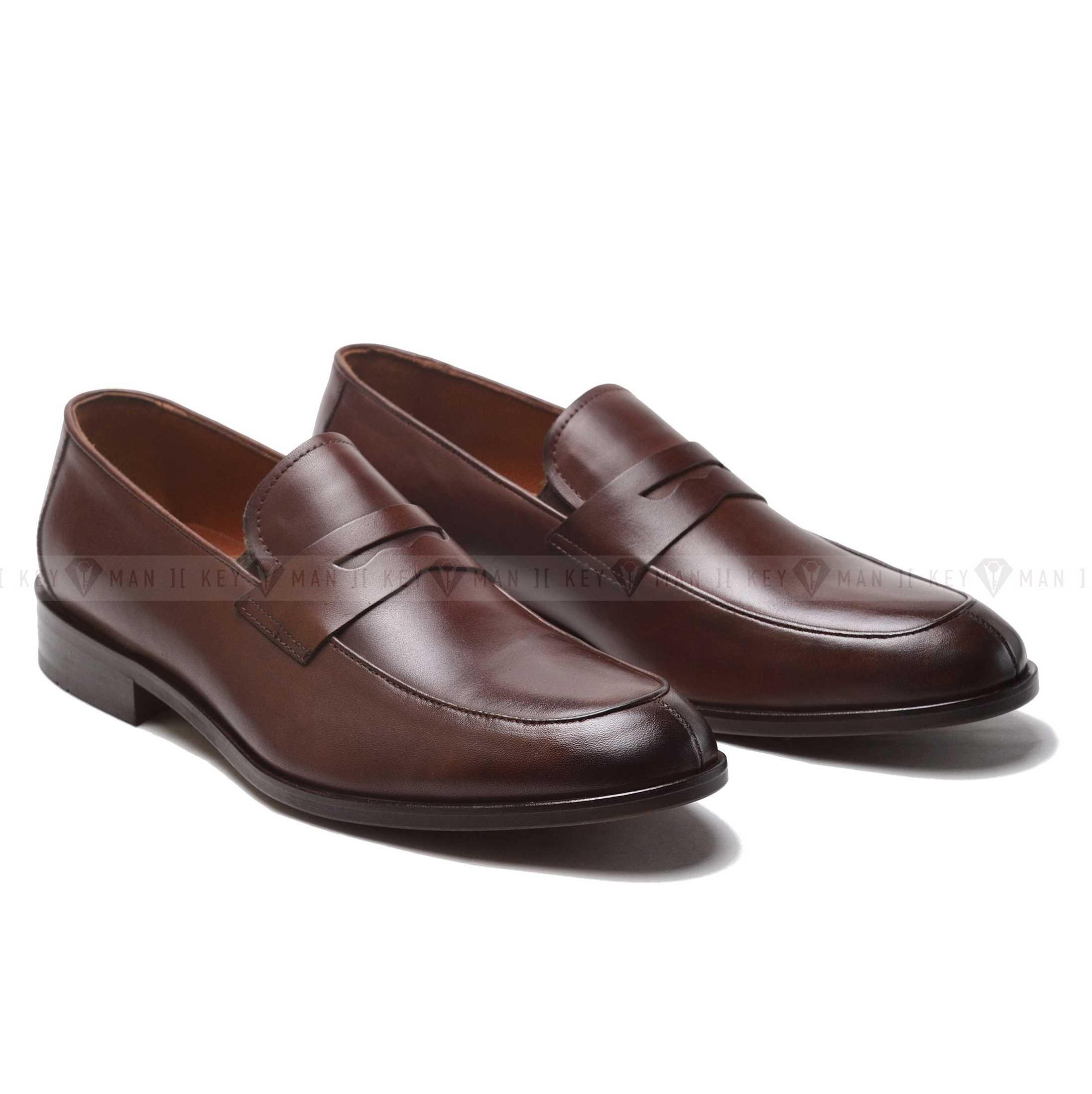 Туфли мужские лоферы коричневые