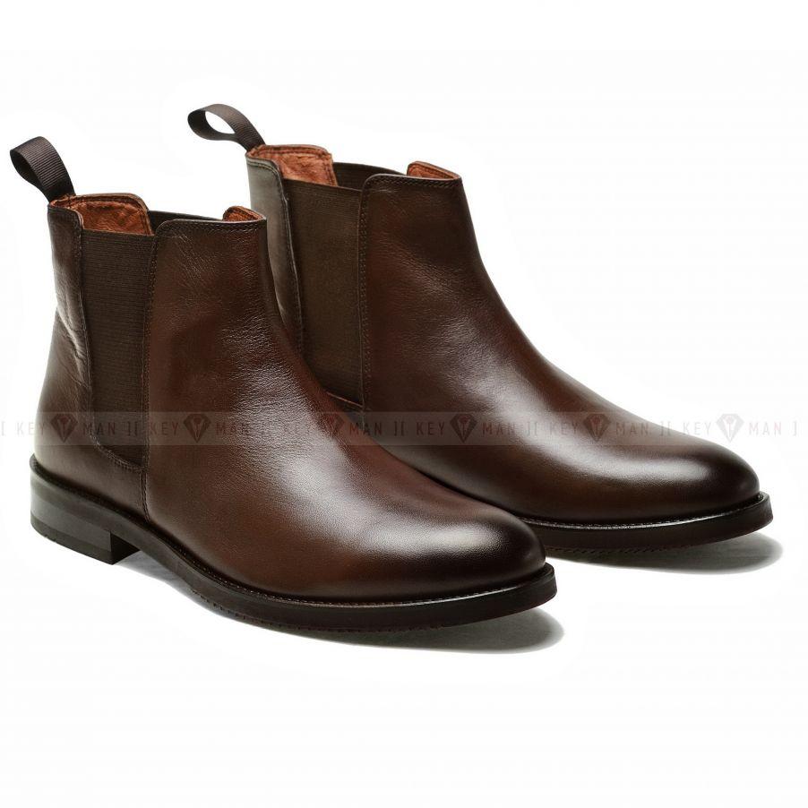 Ботинки мужские челси коричневые
