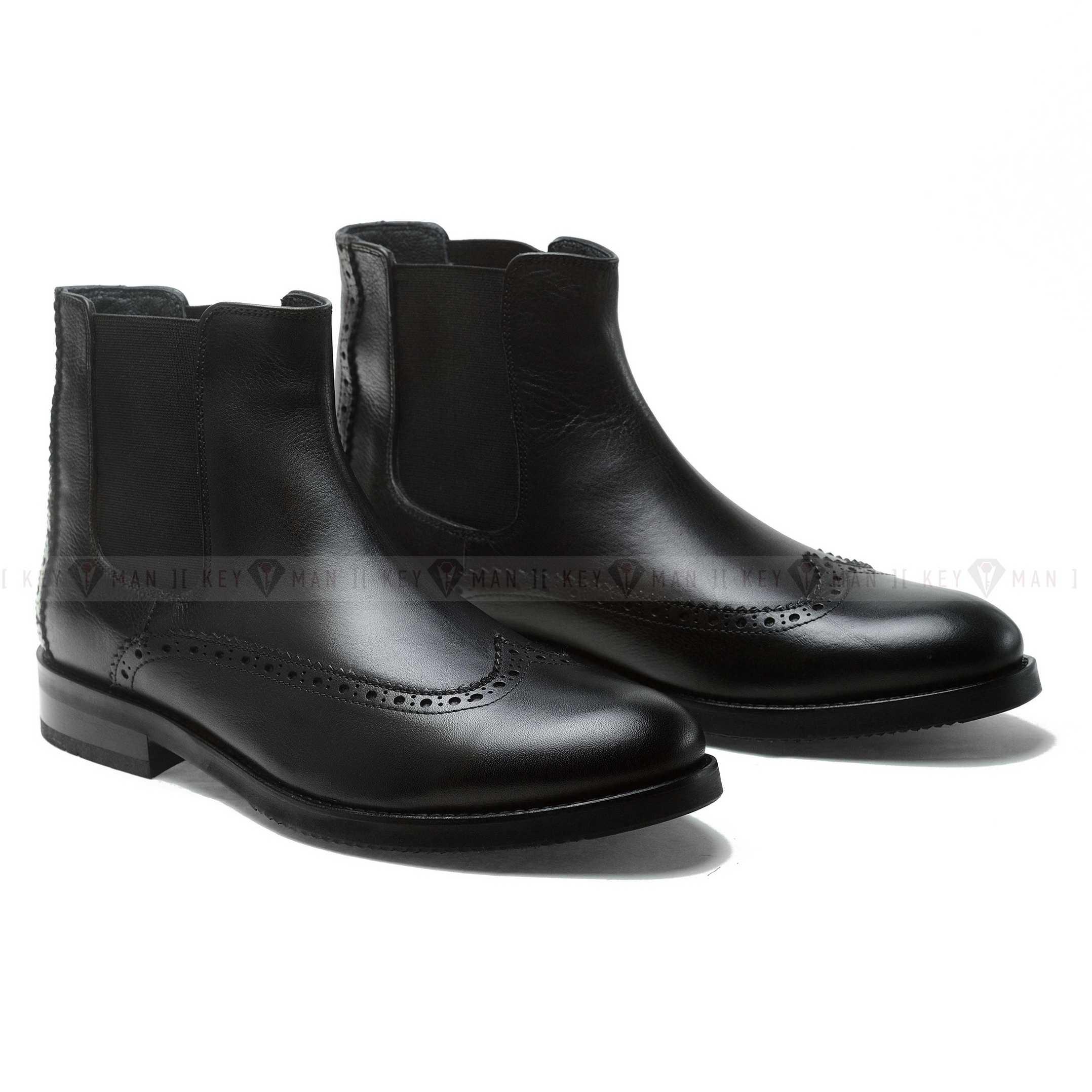 Ботинки мужские челси полуброги черные