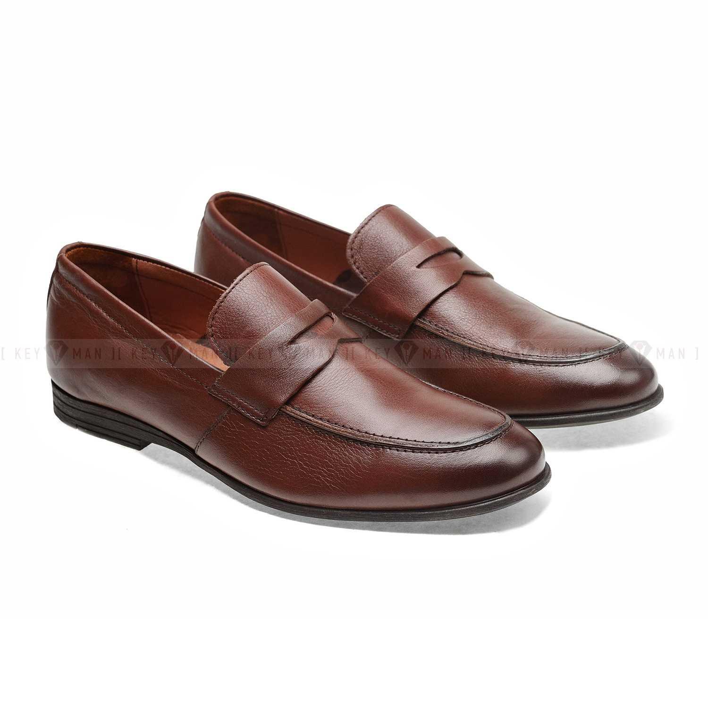 Туфли мужские лоферы коричневые (Penny Loafers) NEW