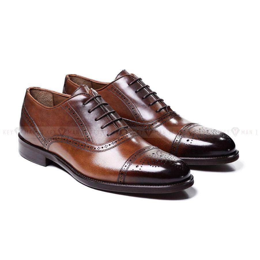 Туфли мужские оксфорды броги рыжие