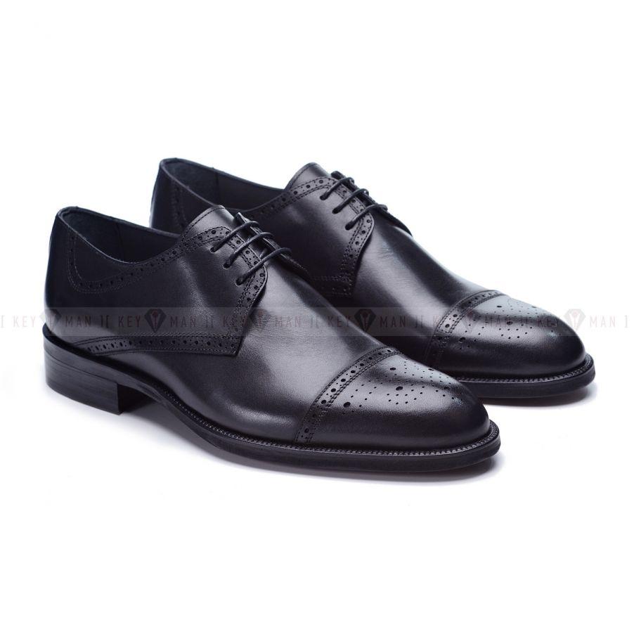 Туфли мужские дерби броги черные