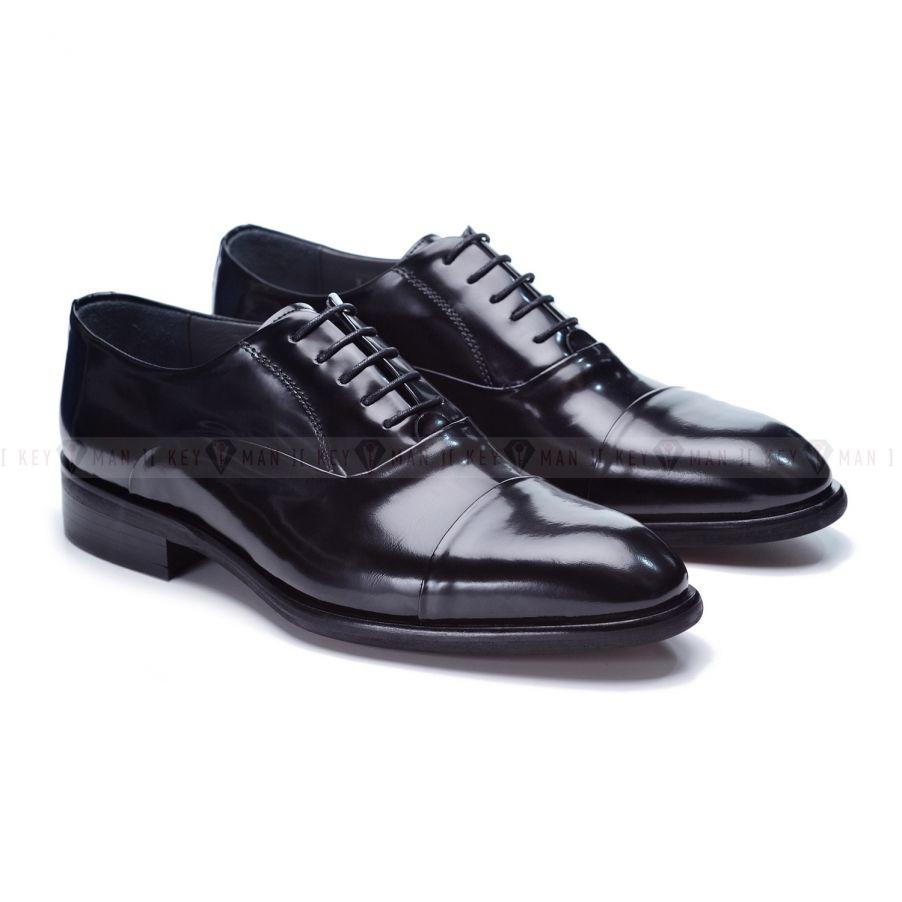 Туфли мужские оксфорды классические черные глянцевая кожа
