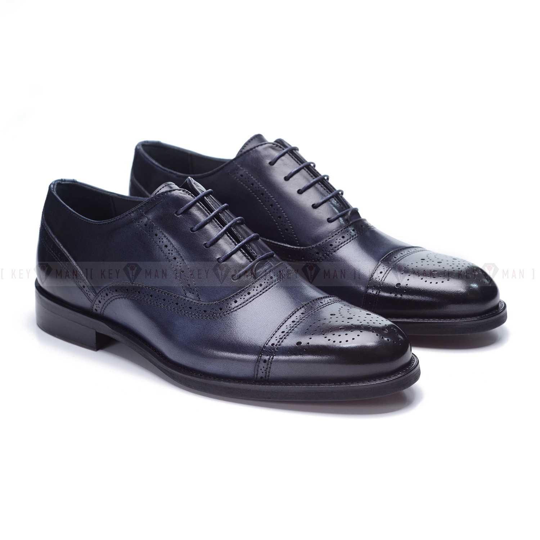 Туфли мужские оксфорды броги синие