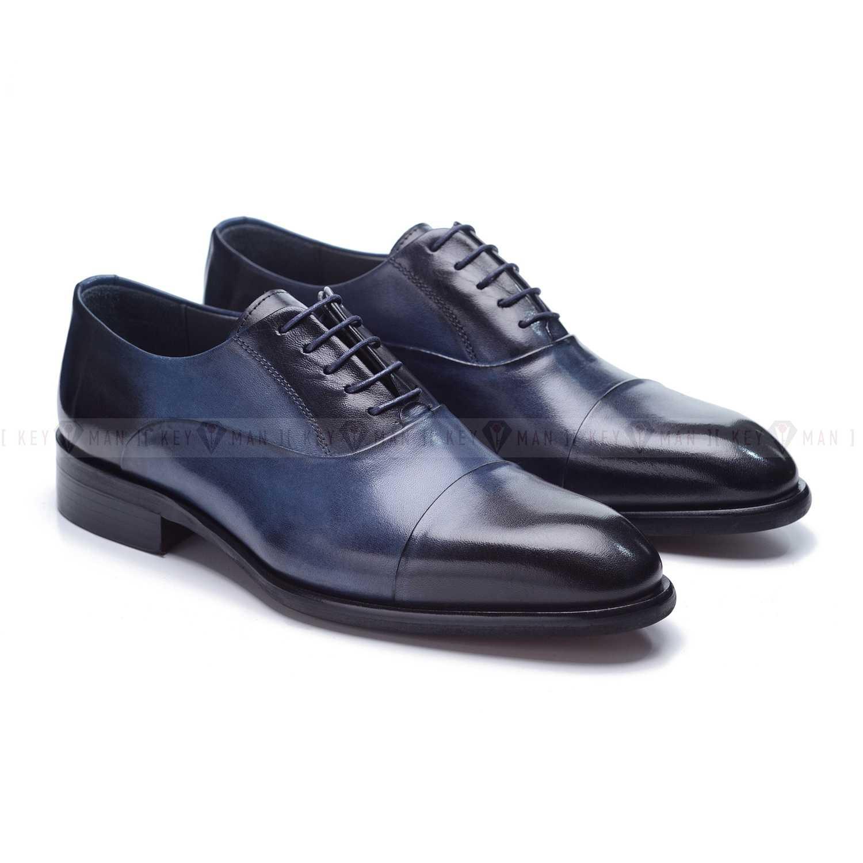 Туфли мужские оксфорды классические синие