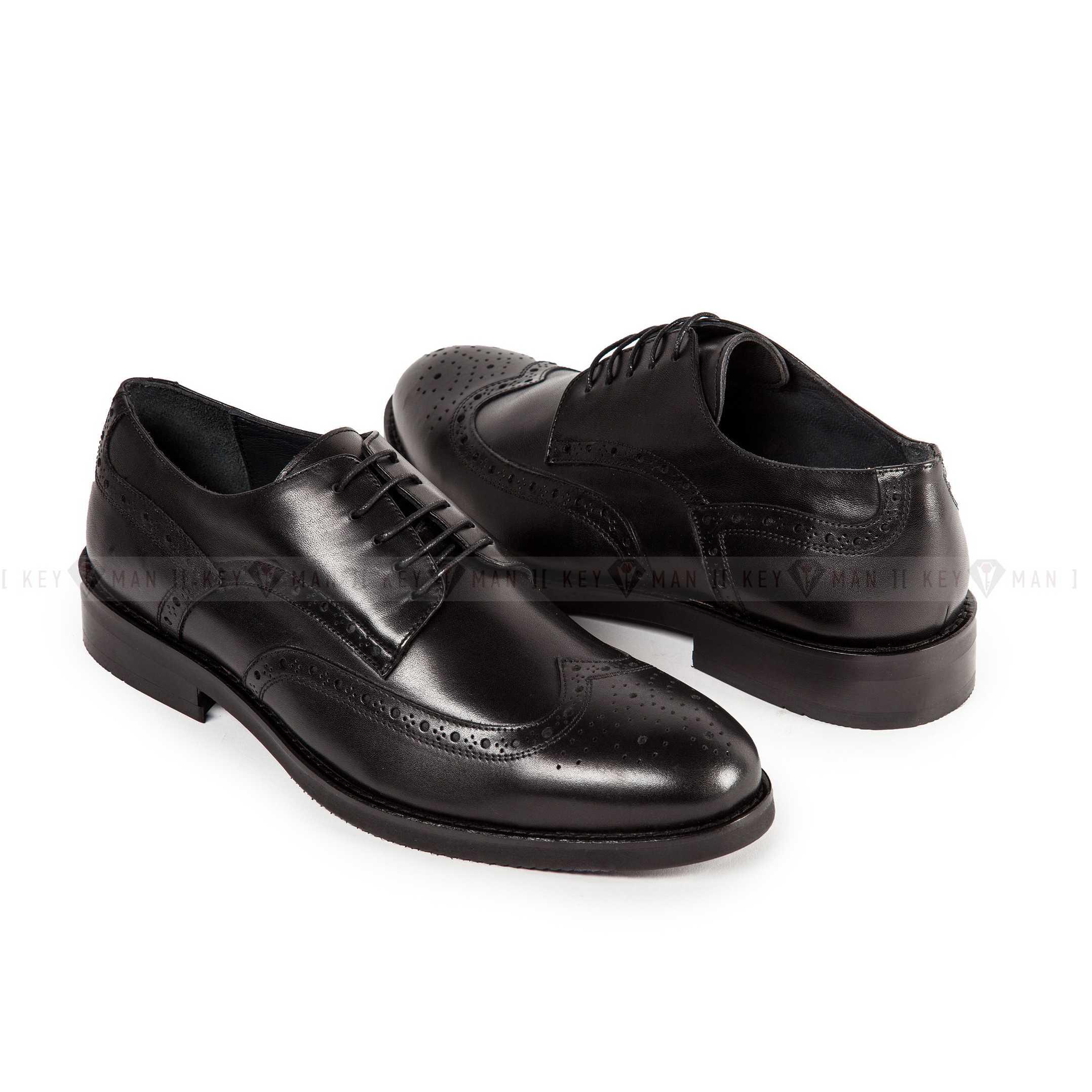 Туфли мужские броги черные