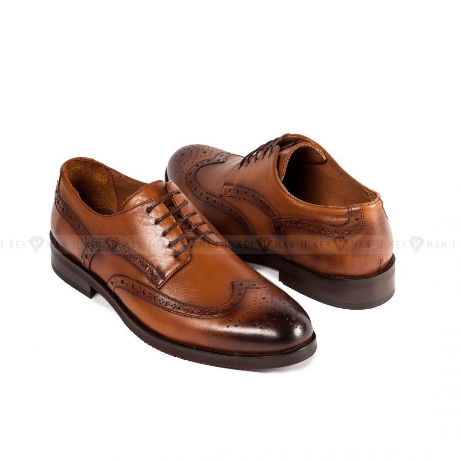 Туфли мужские броги рыжие