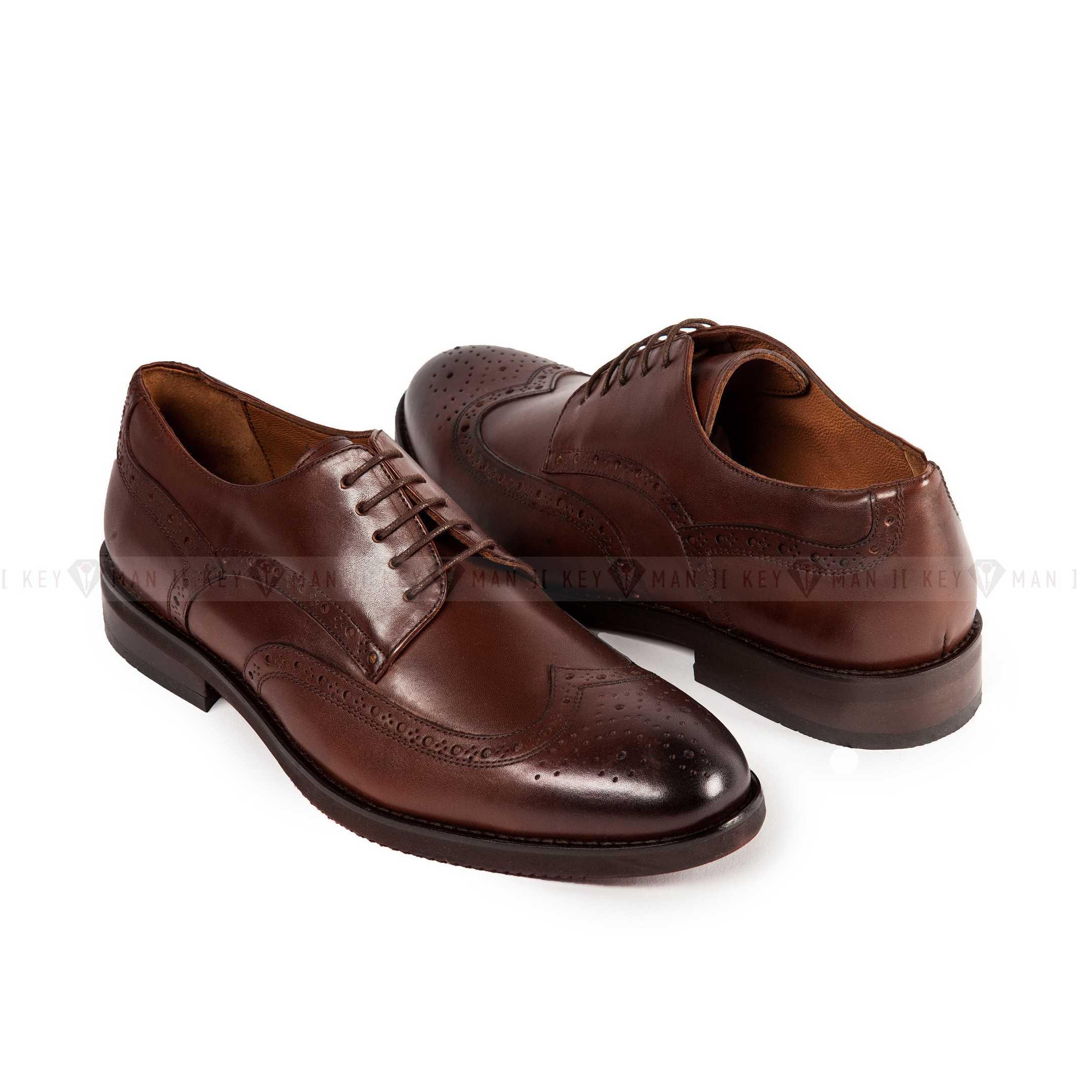 Туфли мужские броги коричневые
