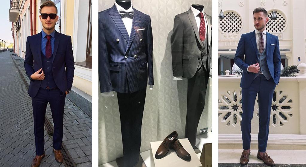Купить голубой мужской костюм в магазине Keyman
